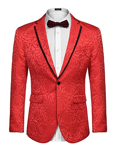 Coofandy Mens Fashion Suit Jacket Blazer Wedding Party Prom Tuxedo