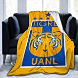 Tigres Uanl Flannel Abstract Throw Blanket Super Soft Fleece Decorative Blankets, Warm, Cozy, Plush, Fuzzy Microfiber Blanket for Couch Bed Sofa