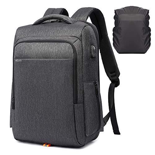 リュック ビジネスリュック メンズ バックパック 大容量 防水 USB充電ポート15.6インチPC リュックサック りゅっく 通勤 出張 (黒)