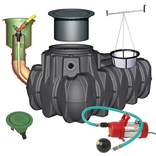 GRAF Regenwasser-Flachtank Platin Regenwassertank Zisterne Wassertank Garten-Komfort, 3.000 L PKW-befahrbar