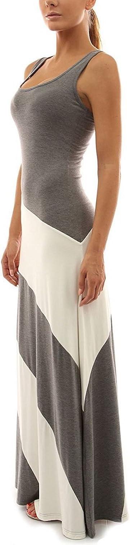 Sekitobajapan.inc Striped Maxi Dress Fit Comfortable for Women