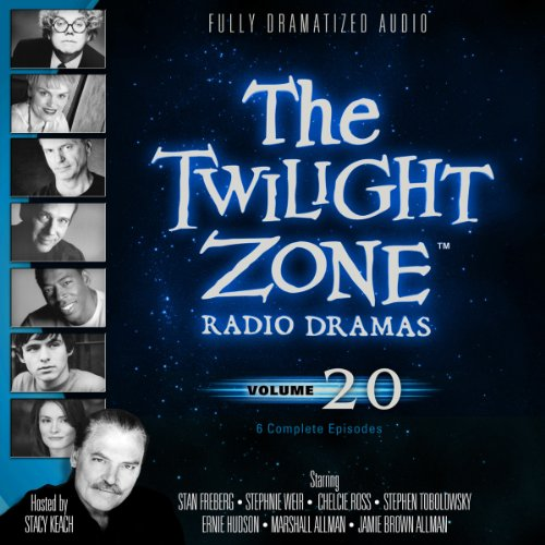 The Twilight Zone Radio Dramas, Volume 20                   By:                                                                                                                                 Rod Serling,                                                                                        Charles Beaumont,                                                                                        Earl Hamner Jr.,                   and others                          Narrated by:                                                                                                                                 full cast                      Length: 4 hrs and 11 mins     26 ratings     Overall 4.8