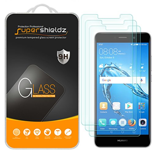 (3 Pack) Supershieldz Designed for Huawei Ascend XT2 Tempered Glass Screen Protector, Anti Scratch, Bubble Free