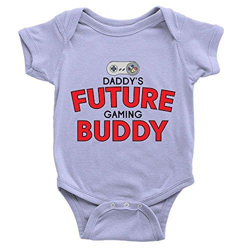 Kickass Tees Daddy's Future Gaming Buddy Babygrow 3-6m Blue Funny Video...
