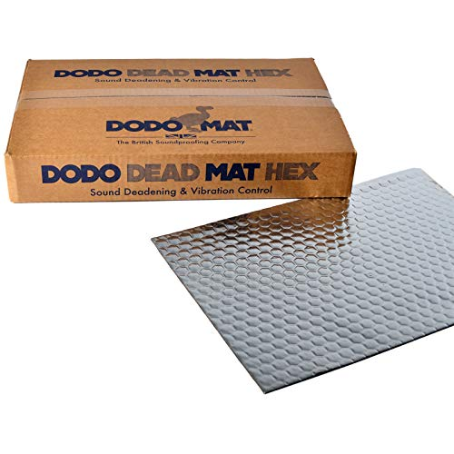 Price comparison product image Dodo Dead Mat Hex sound deadening mat,  20 Sheets,  20 sq.ft (1.8sq.m),  car & van sound proofing,  vibration damping