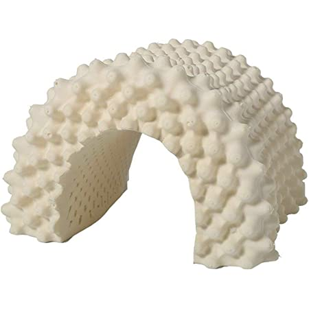 Musiche 高反発枕 ラテックス枕 指圧枕 快適安眠 疲労解消 頸痛/頭痛改善 いびき防止 抗ダニ 防臭 通気性抜群 肌に優しい タイ製