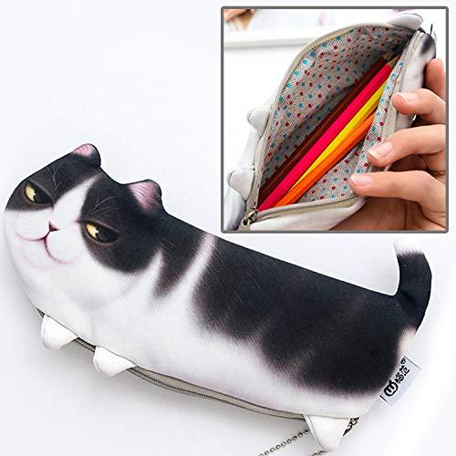 Luoshan Cat Style Version der Simulation Dreibeinige Katze Portable Stationery Cosmetic Bag, Größe: 22x10.5cm (Color : Color2)