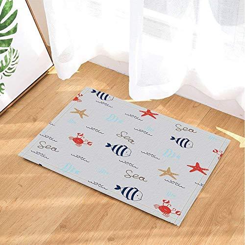 ZZZdz Decoratie dieren High Heels rood Marokko. De Kerstman zit in schommelstoel, vloermat, badmat, keuken tapijt, antislip, plus velours, 40 x 60 cm