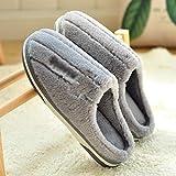 XIANGE100-SHOP Zapatillas Otoño e Invierno doméstico en el Interior del hogar de Espesor Inferior Zapatillas de algodón...