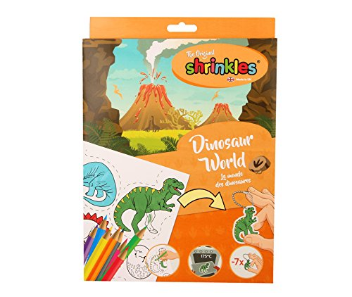 Originale Shrinkles Dinosaur World paraurti in plastica termoretraibile box , Modelli/Colori Assortiti, 1 Pezzo