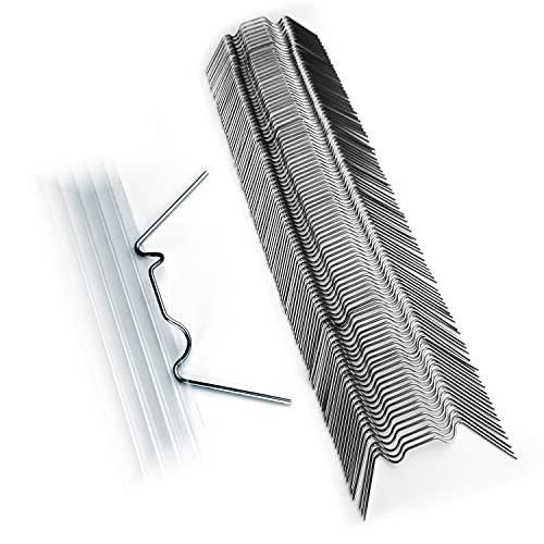 KAISER plastic® Gewächshausklammern | 100 Stk. Set | aus rostfreiem Edelstahl | Xtra Stark 1.6 mm | Premium Qualität | Ideal für Gewächshausplatten
