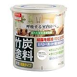 アトムハウスペイント 水性竹炭塗料 1.6L 炭調ホワイト