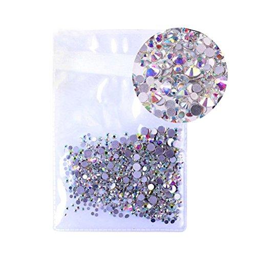Healifty - Cristalli strass per Nail Art 3D, 2,4mm, 1440pezzi