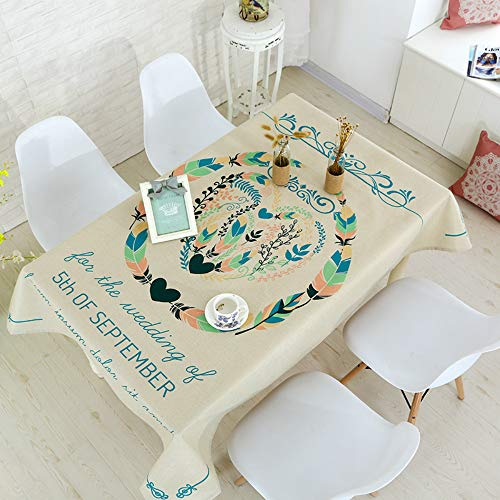 YOUYUANF tablecloth Living Room Dining Table Cloth Fabric Table Mat Coffee Table Cloth Digital Printing Cotton And Linen Table Cloth 85x85cm