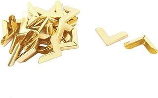 ELECTROPRIME Metal Household Hardware Album Scrapbook Corner Protector 25pcs Gold Tone