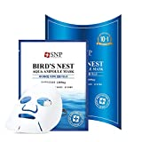 SNP - Bird's Nest Aqua Ampoule Moisturizing Korean Face Sheet Mask - Maximium Hydration & Protection for All Dry Skin Types - 11 Sheets - Best Gift Idea for Mom, Girlfriend, Wife, Her, Women