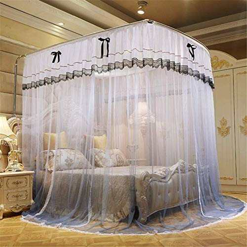 Roestvrij stalen buis muggen net deur gordijn opvouwbare standaard 100% polyester zeer groot volwassen baby Delicate Bed spoor muggennet