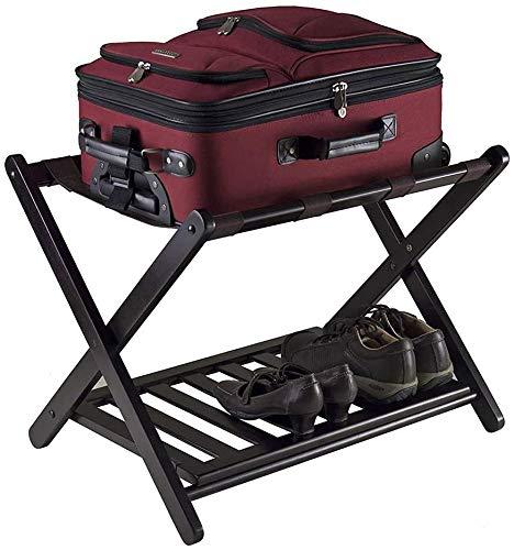 %22 OFF! HOMRanger Room Luggage Holder, Hotel Solid Wood Folding Luggage Rack, Luggage Rack with She...