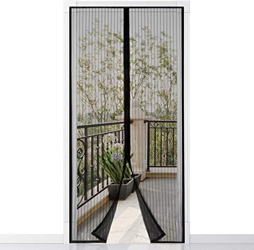 Homitt Mosquitera magn¨¦tica para puerta, Mosquitera Puerta, con cortina de malla resistente con 26 imanes, parte superior reforzada antidesgarro, gancho y bucle de marco completo (80 x 200cm)