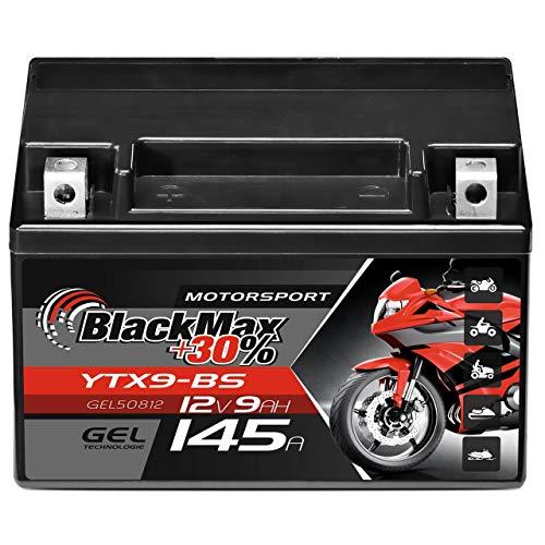 BlackMax YTX9-BS GEL Motorradbatterie...
