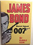 Home Comforts James Bond Magnet 2'x3' Refrigerator Locker Trading Card Wrapper Bubble Gum