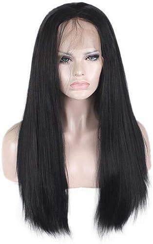 wholesape barato ASDF JL JL JL De Las mujeres Peluca Negra Larga Recta Pelucas Delanteras De Encaje con Natural Hairline Peluca Sintética Resistente Al Calor  comprar ahora