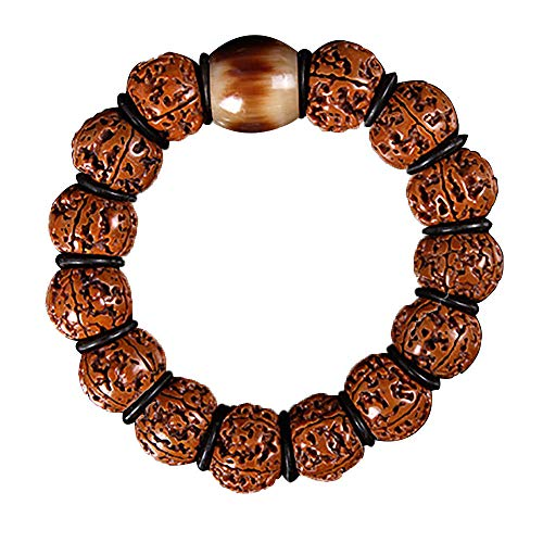 NQFL Bracelet,Tibetan Vajra Bodhi Beads Handmade Buddhist Bracelet Adjustable Lucky Rope Bracelet For Women And Men