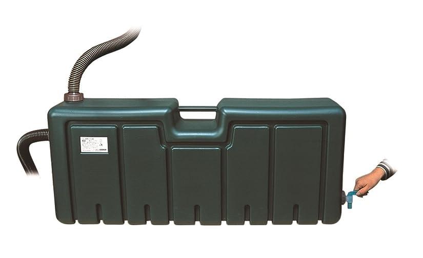ほぼあいまいさオープナーミツギロン 雨水 貯水 タンク グリーン 80L 防災 非常用水 草花の水やりに EG-01