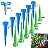 LULI Plant Watering Device, 12 Pieces of Self-Plant Watering Nails with Slow-Release Control Automatic Watering Device, Suitable for Indoor and Outdoor Flower or Vegetable Irrigation Drippers.