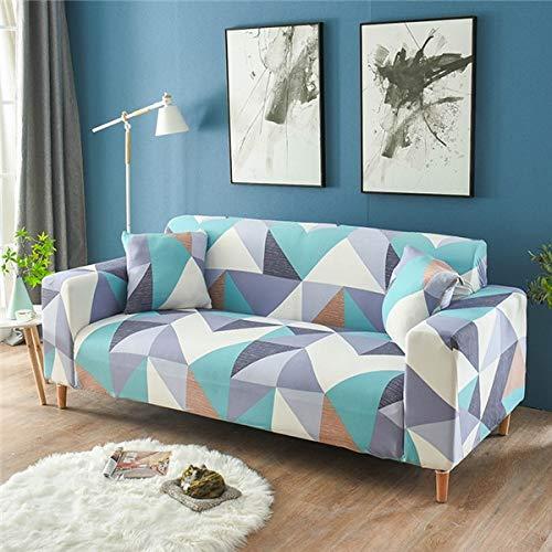 WXQY Funda de sofá elástica Funda de sofá elástica elástica Fractal para Sala de Estar Funda de sofá en Forma de L Funda de sillón, Funda de sofá A22 2 plazas
