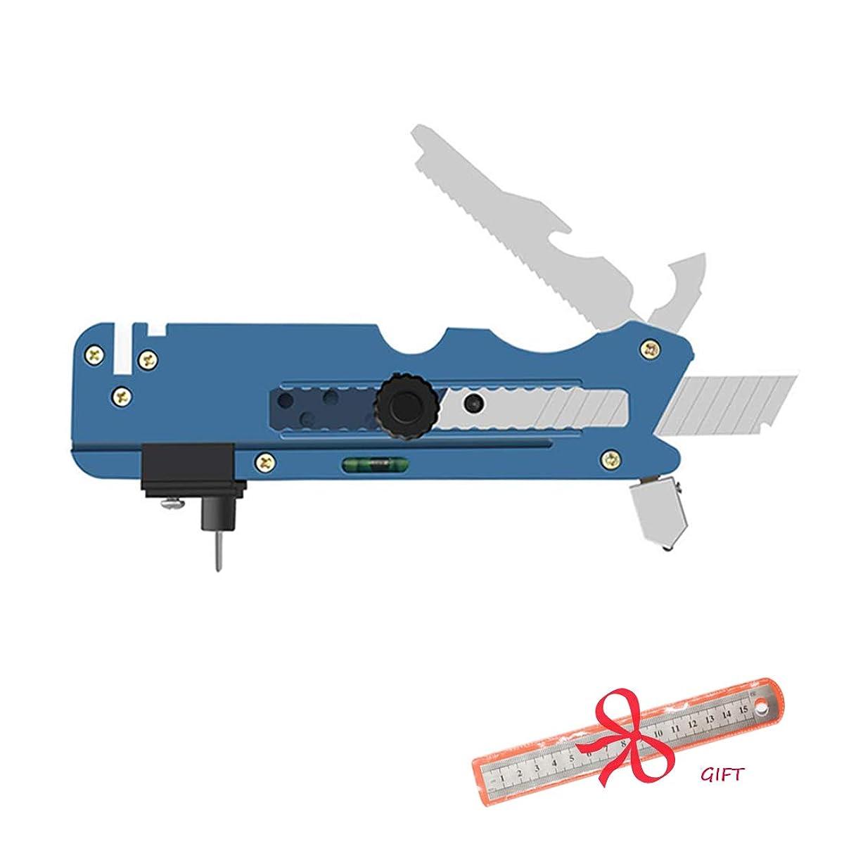 PASNOWFU 2019 Professional Multifunction Glass Cutter Six Wheel Metal Cutting Tool with Measuring Ruler