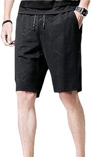 Gocgt Mens Plaid Pocket Elastic Waist Drawstring Beach Shorts Swim Trunks Shorts