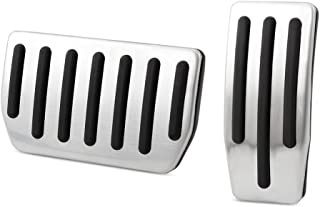 Stainless Steel No Drill Gas Brake Pedal Cover Fit For Tesla Model S and Model X (Gas+Brake Pedals)