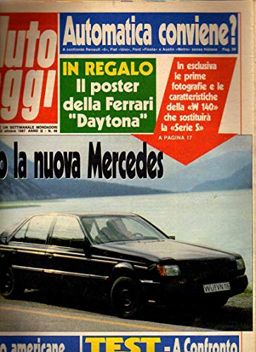 Auto Oggi n. 46 ottobre 1987 Audi 90, Bmw 520i, POSTER FERRARI DAYTONA