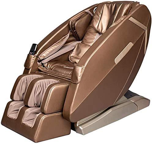 Sillón de masaje Masaje Sillón reclinable de masaje, cero Gravedad SL-pista Cuerpo completo Shiatsu Lujoso Eléctrico con Modo de toque estirado Calefacción Atrás y Masaje de pies Terapia, Rojo