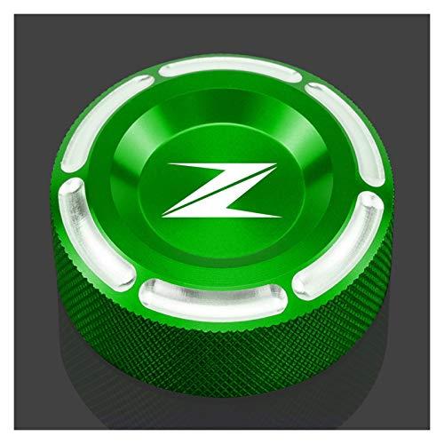 / Compatible con Kawasaki / Z650 2016 2017 Z250 2013 2014 Z750 Tapa de depósito de líquido de frenos trasero de motocicleta (color: verde militar)