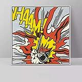 JIAYOUHUO Arte Roy Lichtenstein Pop Art Canvas Painting Arte Abstracto para Sala de Estar Cuadrado Cuadros Cuadros Impresiones de Lienzo Sin Marco 50x50cm