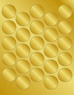 Geographics Matte Gold Foil Seals, 1.75