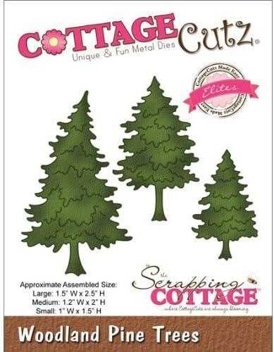 CottageCutz Regular dealer Elites Die Cuts 1.5 Pine Woodland sale Tree by 2.5-Inch