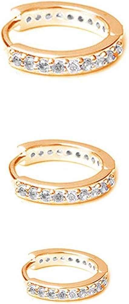 CZ Small Limited time trial price Cartilage Cuff Sleeper Hoop Gir Award-winning store Women Earrings for Teen