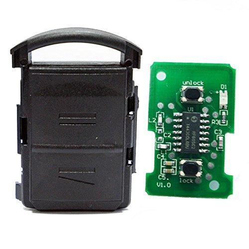 Auto Schlüssel Funk Fernbedienung 1x Gehäuse + 1x 434 MHz Sender Sendeeinheit + 1x Batterie kompatibel mit Opel