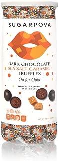 Sugarpova Dark Chocolate with Sea Salt Caramel Truffles Tennis Can, 7 oz