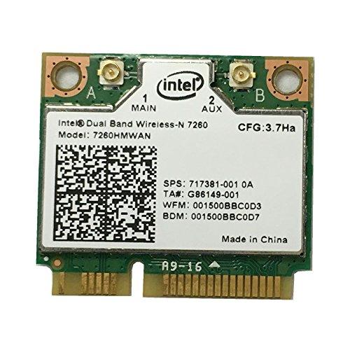 i10Gb Intel Dual Band Wireless-n 7260+ 2x AGN Bluetooth 4.0P/N 7260-hmw