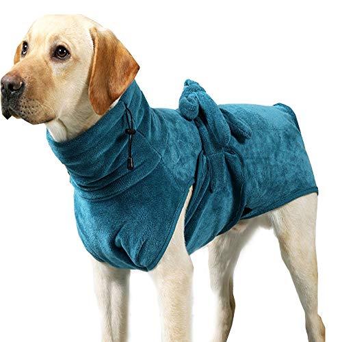Semaxy 犬タオル もふもふ バスタオル 猫用タオル ペット用 タオル 犬服 吸水タオル フード付き 可愛い 体を包み込む 猫服 お風呂 水泳 超吸水 体拭き用タオルペット用品(S:バック30-36cm バスト45-55cm)