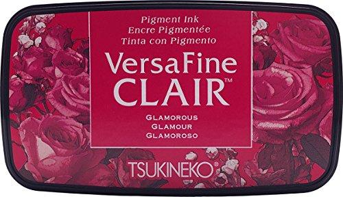 Tsukineko Glamorous Versafine Clair Stempelkissen, Synthetikmaterial, Rot, 5,6 x 9,7 x 2,3 cm, 5.6 x 9.7 x 2.3 cm