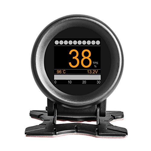 AUTOOL X60 OBDII KMH MPH Digital Speedometer HUD Multi Meter Turbo Boost Pressure Meter Overspeed Alarm OBD2 Scanner for 12V Petrol & Diesel Vehicles
