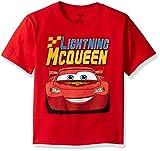 Disney Little Boys' Toddler Cars Lightning Mcqueen Toddler T-Shirt, Red, 3T