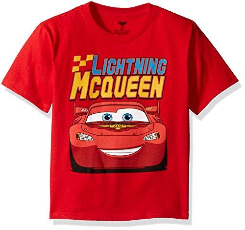 Disney Little Boys' Toddler Cars Lightning Mcqueen T-Shirt, Red, 5T