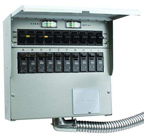 A310C Pro Tran2 30-Amp 10-Circuit 2 Manual Transfer Switch