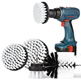 SAFETYON Drill Brushes 4 Pieces Attachment Electric Drill Brushes for Cleaning Pool Tile, Flooring, Brick, Ceramic, Marble, Grout, Bathroom, Car (White)